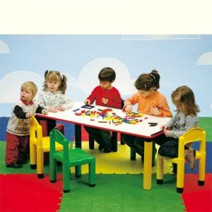 Table rectangulaire maternelle