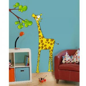 Sticker mural Madame la girafe