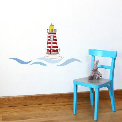 Sticker mural le phare
