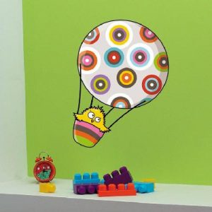 Sticker mural ballon piou