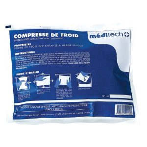Lot de 12 compresses de froid Meditech