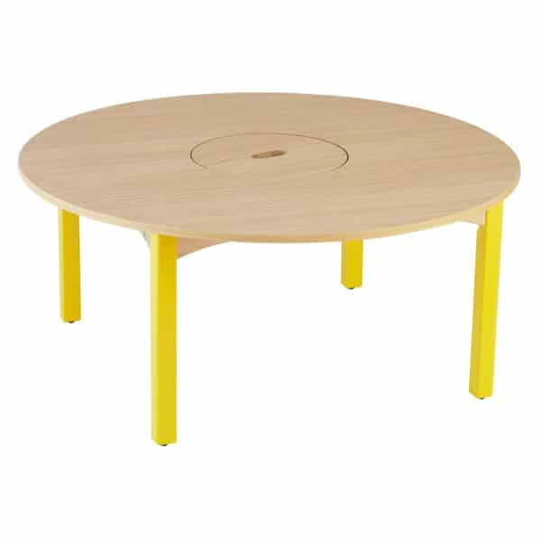 table maternelle ronde avec bac central botapis. Black Bedroom Furniture Sets. Home Design Ideas