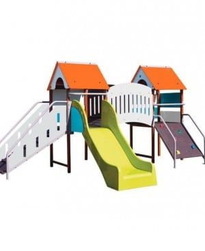 Structure Fripounette baby-pont coloris orange/bleu