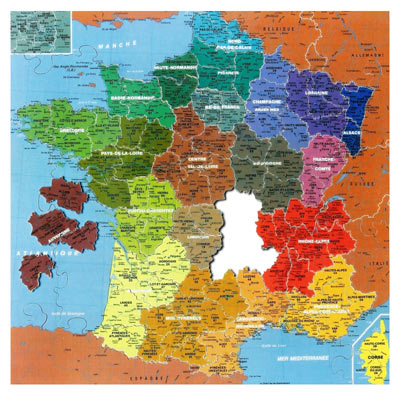 Puzzle les départements de France