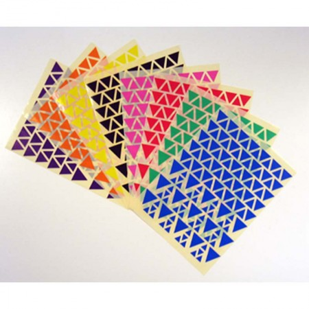 Gommettes triangles 8 coloris assortis