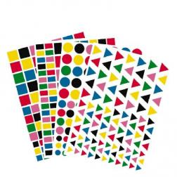 4160 gommettes multicolores vives