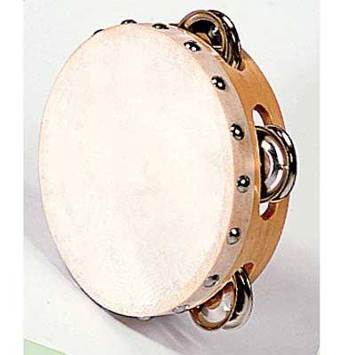 Tambourin 15 cm avec cymbalettes