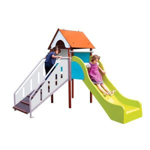 Structure Fripounette baby-glisse coloris orange/bleu