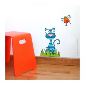 Sticker mural Le gentil chat
