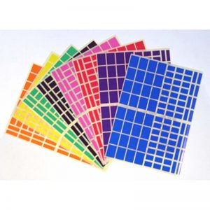 Gommettes rectangles 8 coloris assortis